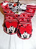 New Disney primark Ladies girls red & white Minnie Mouse Slipper boots size 6 7 8