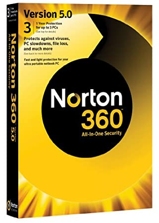 Norton 360 v5.0, 1 User, 3 PCs 1 Year Subscription (PC)