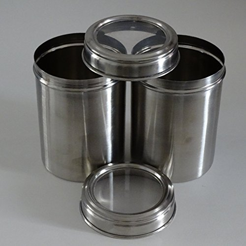 stainless steel storage containers with see through lids set of 2 airtight lids best suited. Black Bedroom Furniture Sets. Home Design Ideas