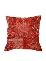 HF LIVING Funda De Cojín Vintage Patchwork (Rojo)