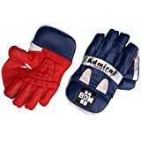 BDM Admiral Super Test Wicket Keeping Gloves, Men's  (Blue/White/Red)