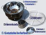 Ersatz Kohlebehälter für Tischgrill n. Wedermann Prinzip, passt für Model 1 und 2