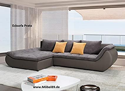 Ecksofa Prato Eckcouch Sofa Couch mit Bettfunktion