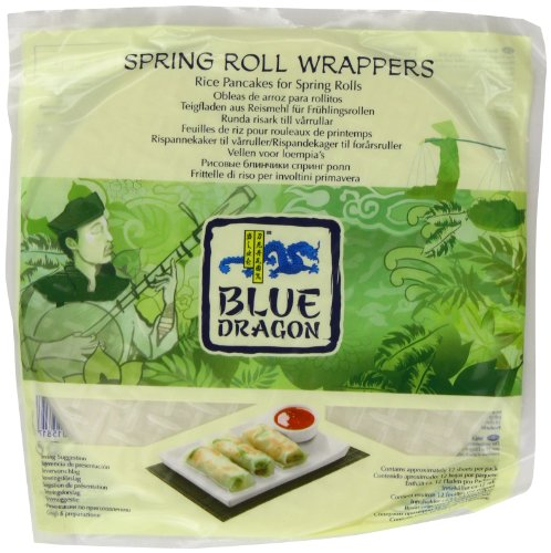Blue Dragon Spring Roll Wrapper 134 g (Pack of 12)