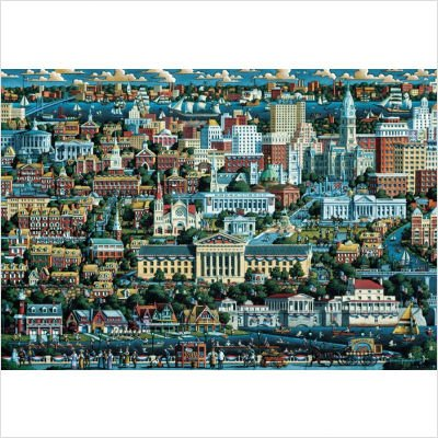 Cheap Dowdle Folk Art Philidephia Jigsaw Puzzle 500pc (B001CE3H26)