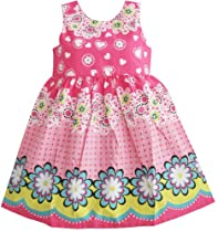 Sunny Fashion Girls Dress Pink Floral Print Sundress Size 12-18 Months