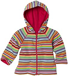 Zutano Super Stripe Reversible Zip Hoodie, Multi, 12 Months ( 6 12 months)