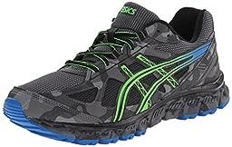 ASICS Men\'s Gel Scram 2 Running Shoe, Carbon/Electric Blue/Black, 10.5 M US