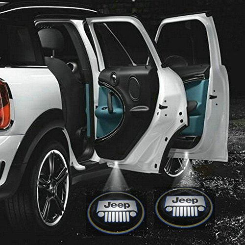 2 X 5Th Gen Car Door Shadow Laser Projector Logo Led Light For Jeep Cherokee Compass Grand Cherokee Patriot Wrangler Unlimited Wagoneer Liberty Cj7 Cj5 All Model All Year