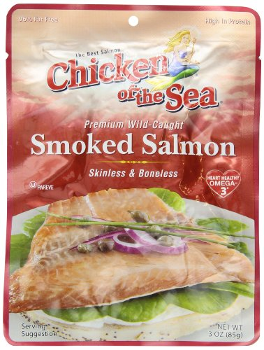 Chicken of the Sea Pacific Smoked Salmon Skinless and Boneless Pouch, 3-Ounce Pouches (Pack of 12) (Smoked Chicken compare prices)