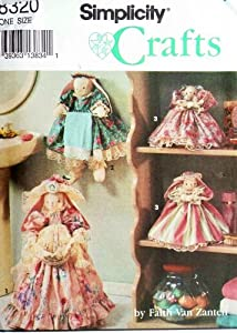 Simplicity 8320 Crafts Sewing Pattern Bathroom Bunnies Towel Holder Air Freshener Plunger Cover