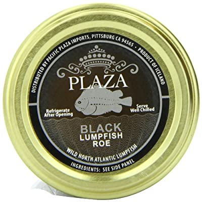 Plaza Premium Amazon Quality Lumpfish Caviar, Black, 3.52 Ounce
