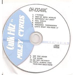 Quik Hitz Karaoke MILEY CYRUS 11 Song CDG  Disk-(QH-10004MC)
