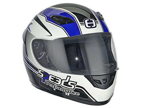Casque Speeds Integral Performance II Racing Graphic bleu taille S