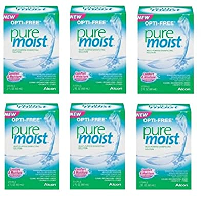 Alcon Puremoist Multi-Purpose Disinfecting Solution 2 Oz Travel Size (Pack Of 6)