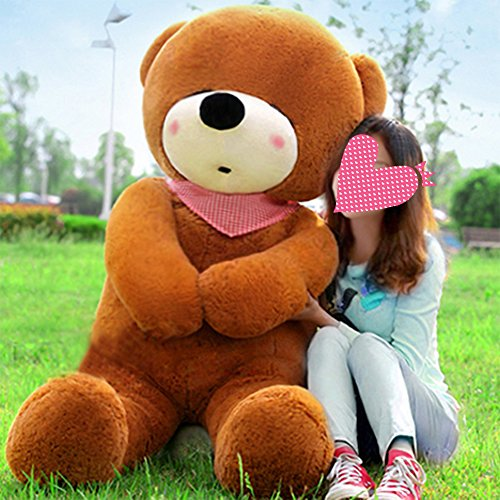 VERCART 47 inches Dark Brown 120CM Giant Huge Cuddly Stuffed Animals Plush Teddy Bear Toy Doll