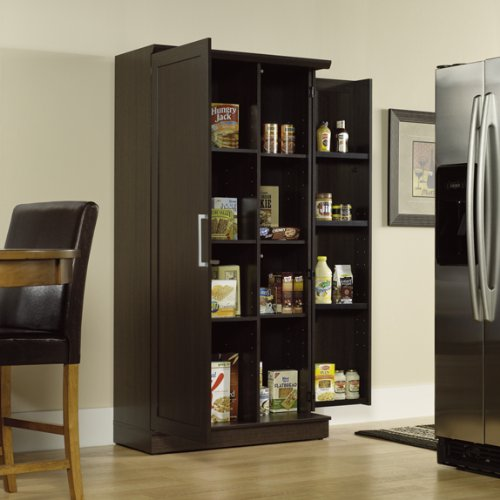 Large Double Door Storage Cabinet Dakota Oak Finish View Now