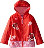 Stephen Joseph Little Girls'  Peace Rain Coat, Ladybug, 4T