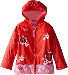 Stephen Joseph Little Girls\'  Peace Rain Coat, Ladybug, 4/5
