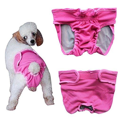 Bild von: YiZYiF Hundeschutzhosen für Hunde Hündinnen Läufigkeit Unterhose Unterwäsche Hundehöschen XS-XL Rosa S