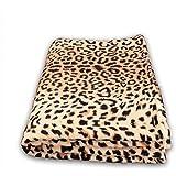 Kuscheldecke 150x200 cm Wohndecke Farbe: Leopard