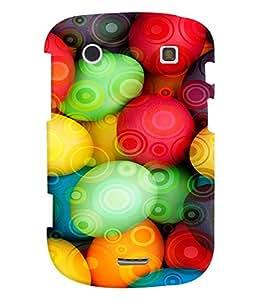 Fuson Premium Colorful Sphericals Printed Hard Plastic Back Case Cover for Blackberry Bold 9900