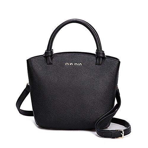 GQ-WOMEN BAG Semplice modello di croce in pelle borsa 2016 nuova borsetta baodan spalla a tracolla in pelle , black