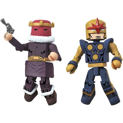 Diamond Select Toys Marvel Minimates Series 50 Fan's Choice Series Baron Zemo I and Nova Corps Centurion Action Figure