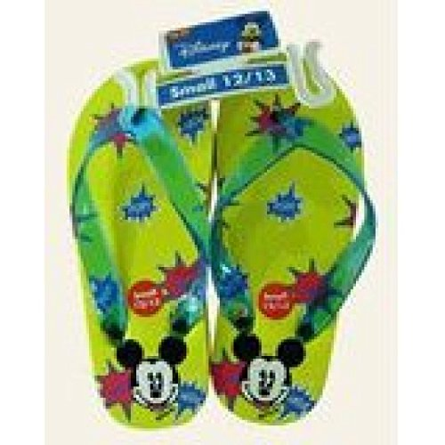 Disney Mickey Mouse Children's Yellow Sandals - Kids Mickey Sandals (Large Sz 3/4)