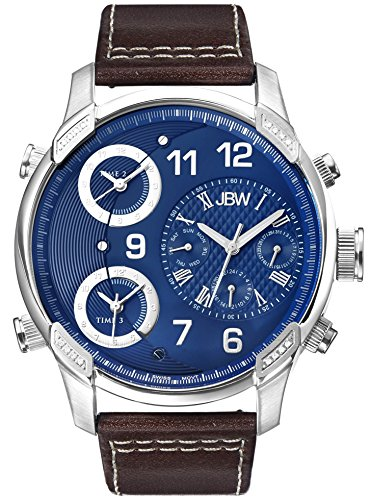 JBW J6248LN - Reloj de pulsera hombre, piel, color Blanco