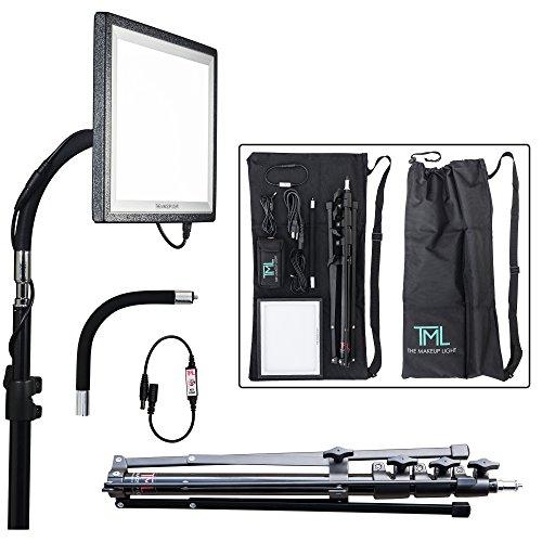 The Makeup Light Key Light Starter Package, Onyx/Black with Stand, Adjustable Gooseneck & Shoulder Bag (Make Up Lighting compare prices)
