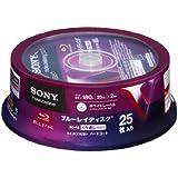 25 Sony Bluray Rewritable Discs BD-RE 25GB Single Layer Inkjet Printable Made in Japan Version