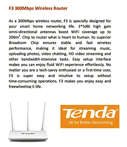 Tenda 300Mbps Wireless Easy Setup Home Router F3 (Dial Up Modem Router compare prices)