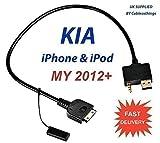 KIA iPod iPhone iPad Cable USB 3.5mm Forte / Optima / Soul / Rio / Rondo / Sedona / Sorento / Sportage / Fuze Lead Adapter Wire Cord