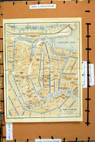citta-1905-di-pianificazione-della-via-della-mappa-amsterdam-olanda-amstel