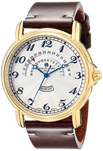Charles-Hubert, Paris Men'S 3961-G Premium Collection Analog Display Japanese Quartz Brown Watch