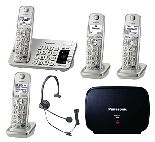 panasonic-link2cell-bluetooth-kx-tge274s-4-handsets-corldess-phone-with-large-keypad-silver