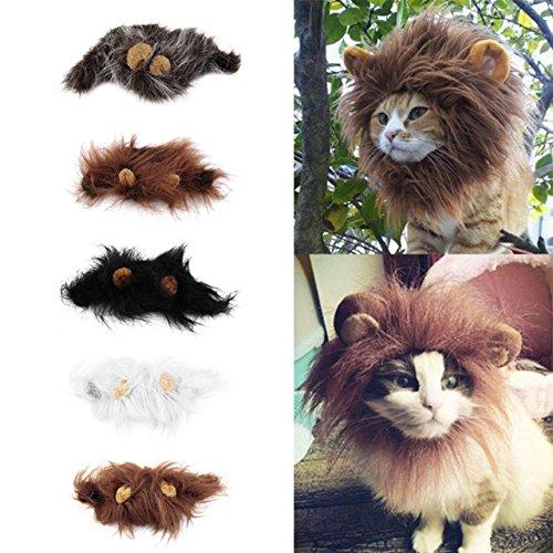 [Pet cat dog emulation lion mane ear head cap dress up costume] (Flavor Of Love Halloween Costume)