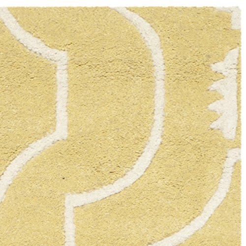 Safavieh Chatham Collection CHT736L Handmade Light Gold and Ivory Wool Runner, 2 feet 3 inches by 7 feet (2'3
