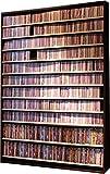 1668枚収納 CD屋さんのCD/DVDラック 幅139cm インデックスプレート20枚付き (ダークブラウン D)