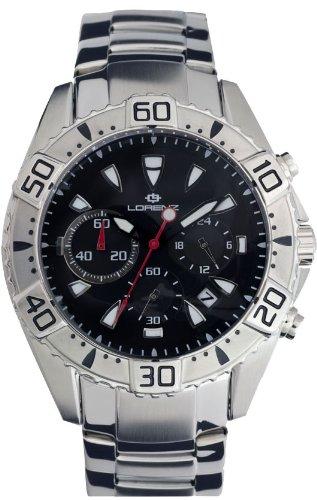 Lorenz 026803BB - Reloj , correa de acero inoxidable color plateado