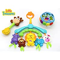 Baby Gift Box 3in1 Animals Baby Hanging Toy Rattle Gift Hanging Gift Toy Set With Rattle For Babies 6+ Months...