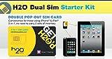 H2O Wireless Dual Sim Card Starter Kit Micro and Standard Sim Combo