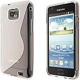 ECENCE Samsung Galaxy S2 i9100 S2 Plus i9105 Silikon TPU case schutz hülle handy tasche cover schale transparent 13040403