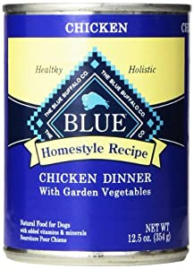 Blue Buffalo Canned Dog Food, Chicken Dinner (Pack of 12 12.5-Ounce Cans)