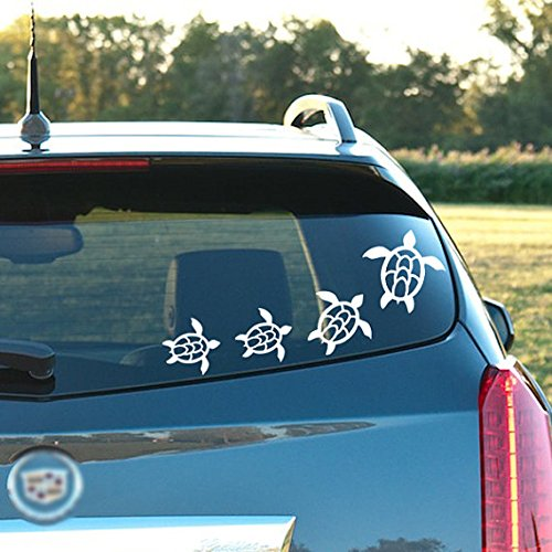 Sea Turtle Variety Pack - 7 Toal , vinyl decal - for windows, cars, trucks, tool boxes, laptops and tablets (Turtle Car Decal compare prices)