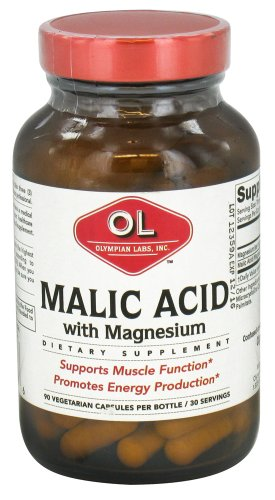 Olympian Labs - Malic Acid With Magnesium - 90 Vegetarian Capsules