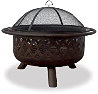 UniFlame WAD792SP Bronze Crossweave Firebowl Fire Pit by UniFlame