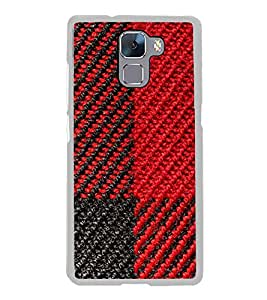 Printvisa Red And Black Pattern 2D Hard Polycarbonate Designer Back Case Cover For Huawei Honor 7 :: Huawei Honor 7 Enhanced Edition :: Huawei Honor 7 Dual Sim