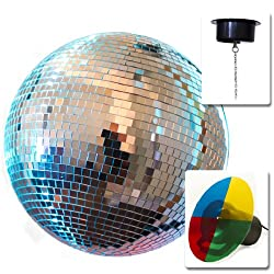 """12"""" Mirror Disco Ball Dj Party Motor Combo Light Kit Disco Party by bestchoiceproducts"""